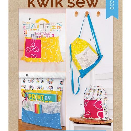 Kwik Sew k4319 Pyssel &Presenter Väska Förvaring