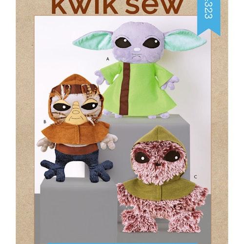 Kwik Sew k4323 Mjukisar Djur Aliens