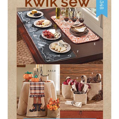 Kwik Sew k4348 Inredning Dekoration Dukar Korgar