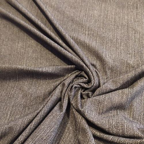 Bomullstrikå - Tryckt jeansstruktur ANTRACIT