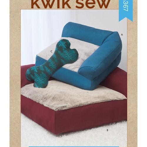 Kwik Sew k4367 Djur bädd leksak