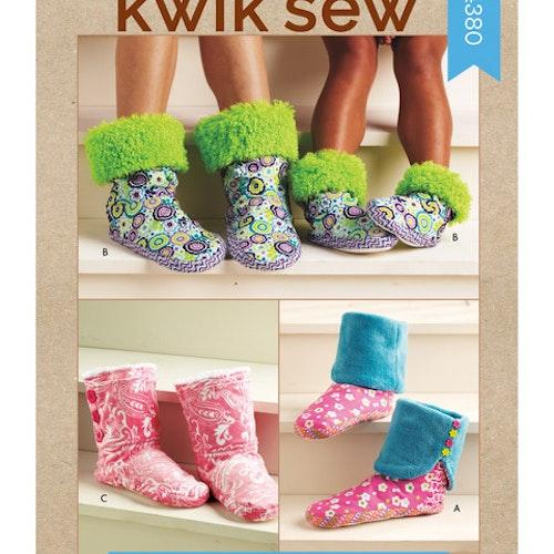 Kwik Sew k4380 Tofflor Vuxen barn