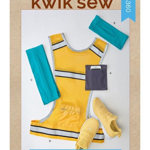 Kwik Sew k4360  Armband Pannband Bälte Väst
