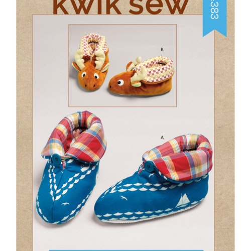 Kwik Sew k4383 Tofflor Vuxen barn