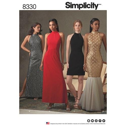Simplicity 8330 D5 Dam Storlek 30-46 Klänning