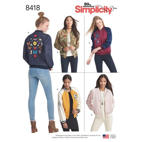Simplicity 8418 D5 Dam Storlek 32-40 Jacka