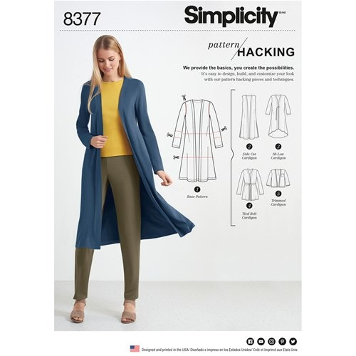 Simplicity 8377 A Dam Storlek XXS-XXL överdel