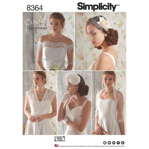 Simplicity 8364 H5 Dam Storlek 32-40 Brud Accessoarer