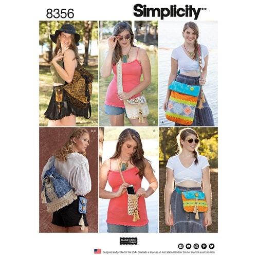 Simplicity 8356 OS Väska 4 olika storlekar