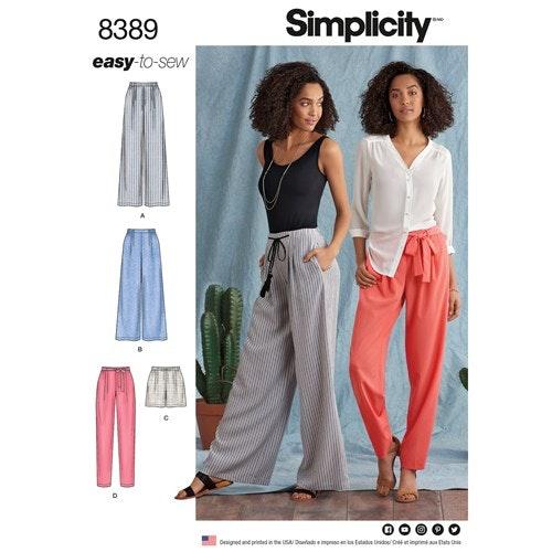 Simplicity 8389 R5 Dam Storlek 40-48 Byxor