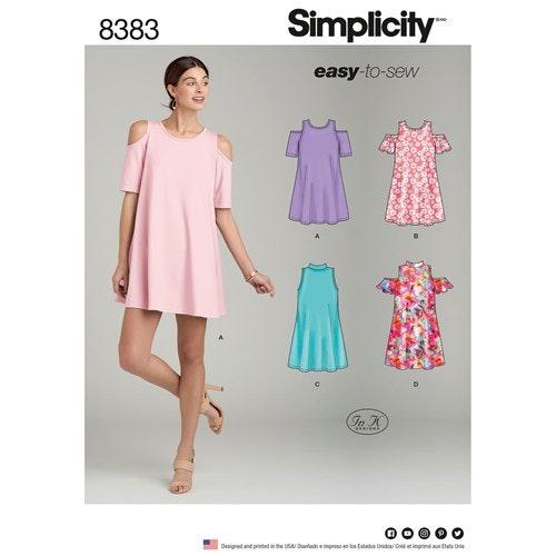 Simplicity 8383 H5 Dam Storlek 32-40 Klänning