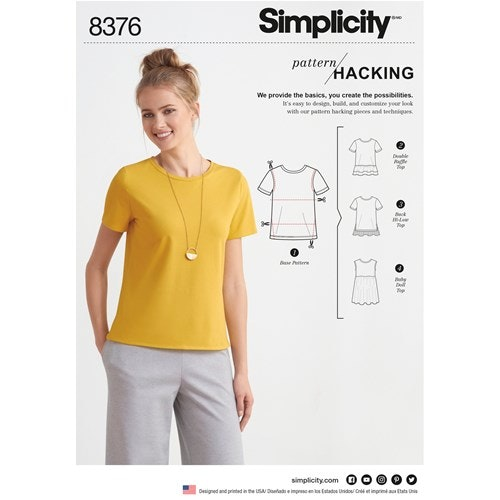 Simplicity 8376 A Dam Storlek XXS-XXL Topp