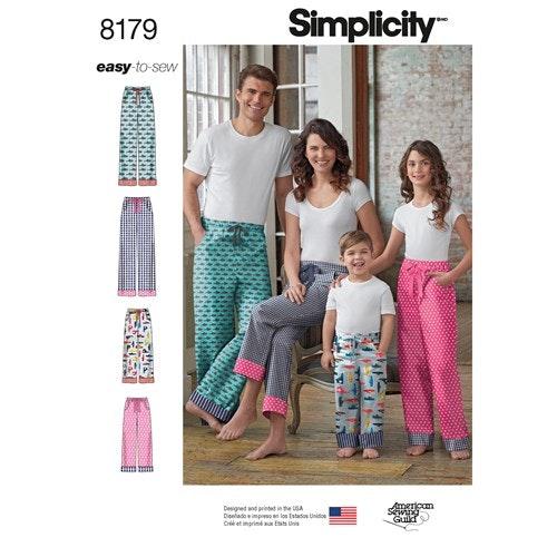 Simplicity 8179 A Byxa Familj  Storlek XS-XL
