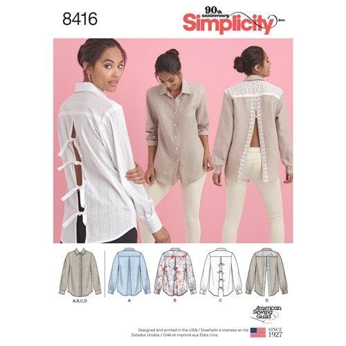 Simplicity 8416 U5 Dam Storlek 42-50 Blus