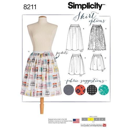 Simplicity 8211 D5 Dam Kjol Storlek 30-38