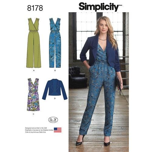 Simplicity 8178 H5 Dam Flera plagg  Storlek 32-40