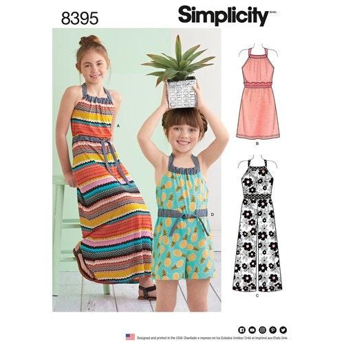 Simplicity 8395 K5 Barn storlek 7-14 Klänning