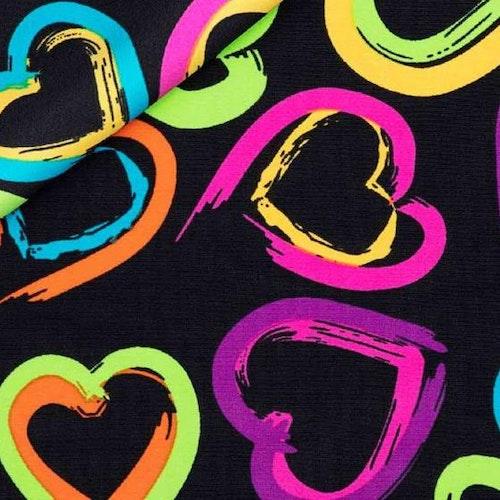 Lycra NEON HEARTS