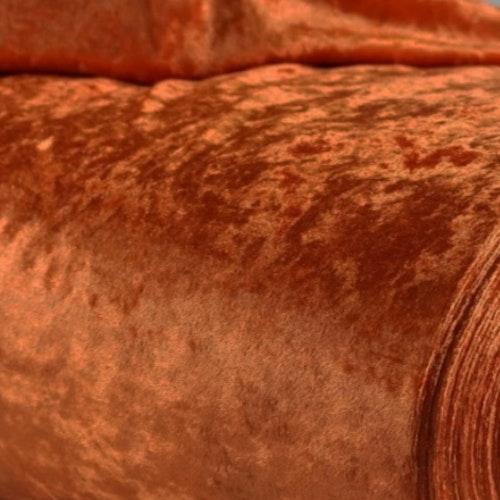 Velour av polyester, krossad Mörk terrakotta
