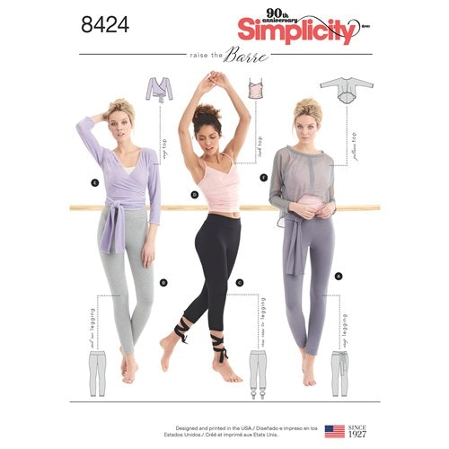 Simplicity 8424 A Dam Flera plagg storlek 30-52