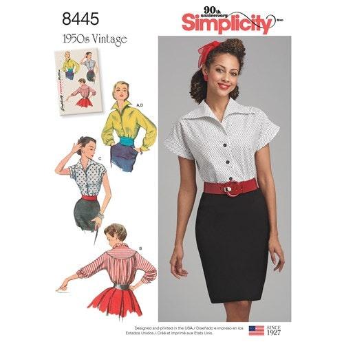 Simplicity 8445 H5 Dam storlek 34-42 Överdel Blus