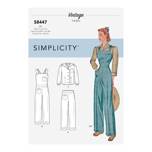 Simplicity 8447 H5 Dam Byxa flera plagg storlek 34-42