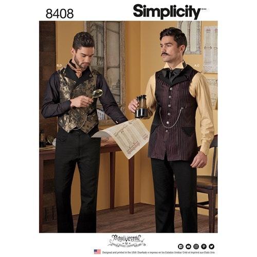 Simplicity 8408 BB Herr Storlek 56-62