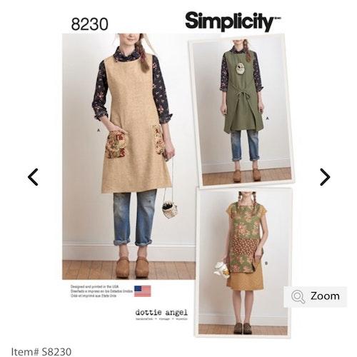 Simplicity 8230 A Dam Överdel Förkläde storlek 32-50