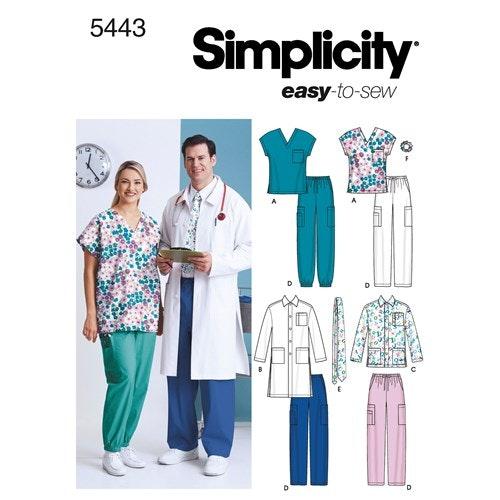 Simplicity 5443 AA Dam / Herr Storlek S-L