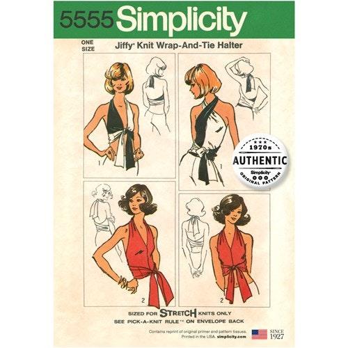 Simplicity 5555 Dam OS Topp Tunika