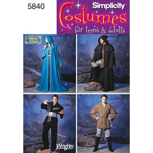 Simplicity 5840 A Utklädningskläder Storlek XS-XL