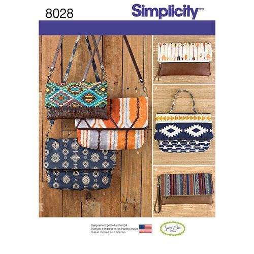 Simplicity 8028 OS Väska Portmonnä / Börs
