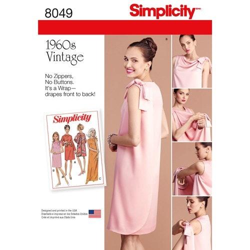 Simplicity 8049 K5 Dam Storlek 34-42 Klänning