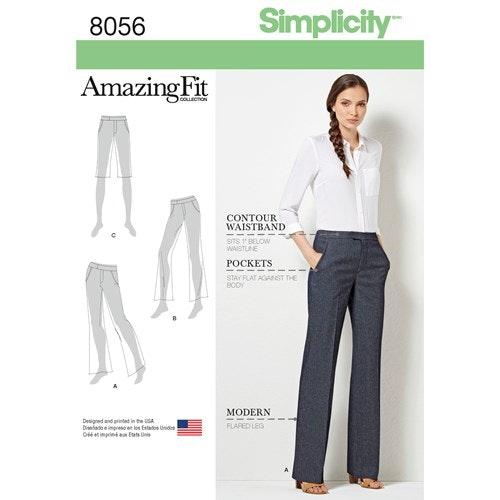Simplicity 8056 AA Dam byxa storlek 36-44