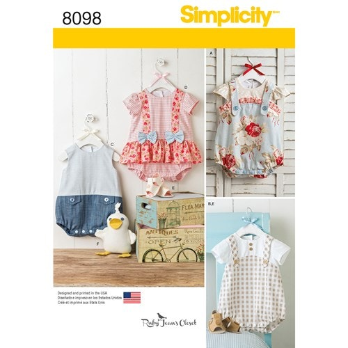 Simplicity 8098 A Barn Baby Storlek XXS-L