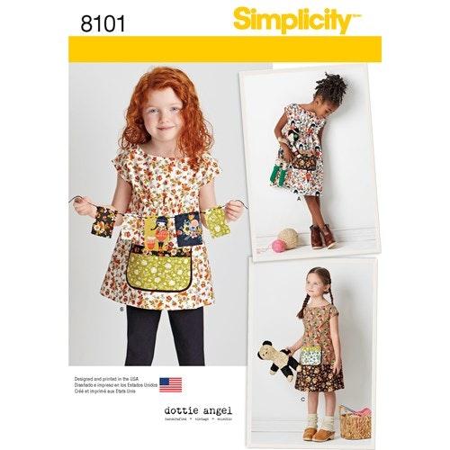 Simplicity 8101 A Barn Storlek 3-8 år Klänning Tunika