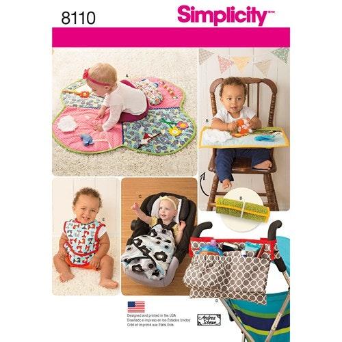 Simplicity 8110 OS Baby Tillbehör Haklapp
