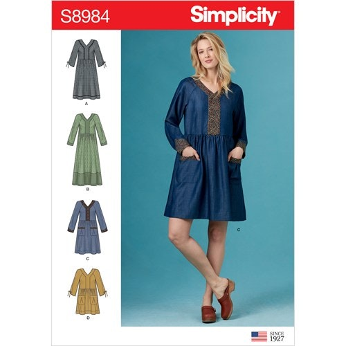 Simplicity 8984 U5 Dam Klänning Storlek 42-50