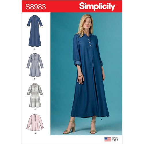 Simplicity 8983 H5 Dam Klänning Storlek 32-40