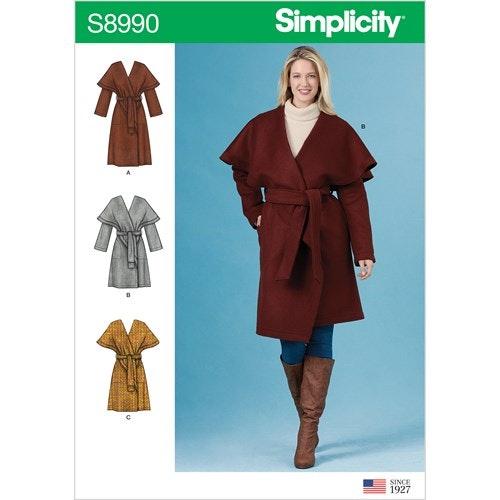 Simplicity 8990 H5 Dam Storlek 32-40 Kappa