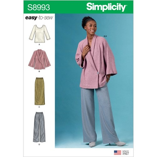 Simplicity 8993 A Dam Storlek XS-XXL Flera plagg
