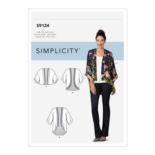 Simplicity 9124 A Dam Kimonojacka Storlek 30-52