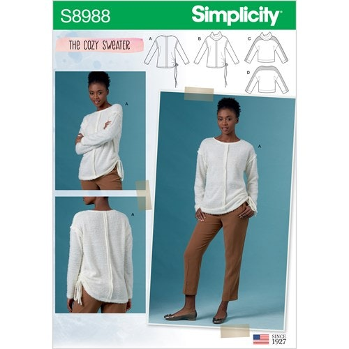 Simplicity 8988 A storlek XS-XL The Cozy Sweater
