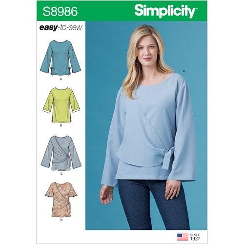 Simplicity 8986 BB storlek 46-54 Blus