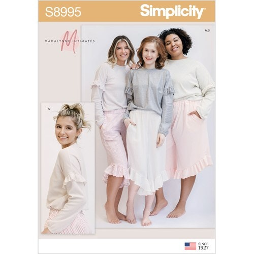 Simplicity 8995 A Storlek XS-XL Flera plagg