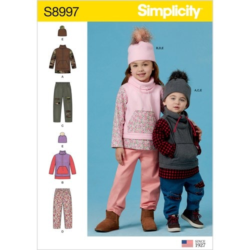 Simplicity 8997 AA Barn storlek 1/2-3 Flera plagg