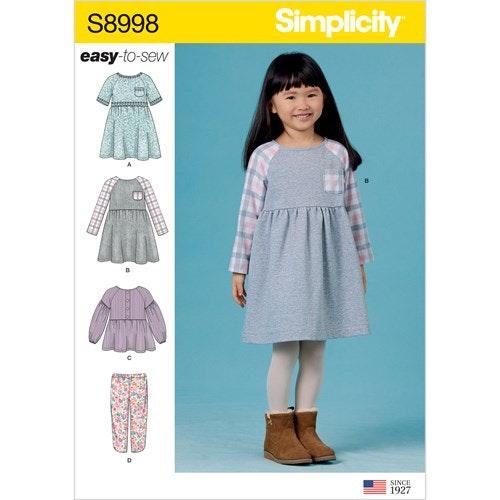 Simplicity 8998 A Barn storlek 3-8 Flera plagg