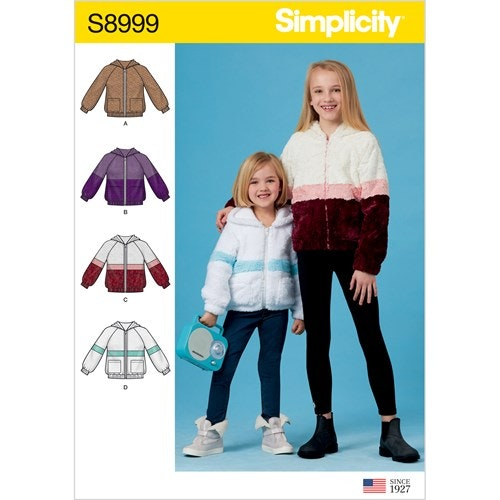Simplicity 8999 HH Barn Storlek 3-6 Jacka