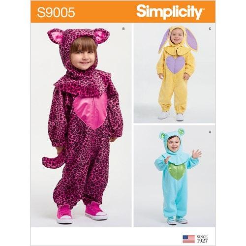 Simplicity 9005 A Barn Storlek 1/2-4 år