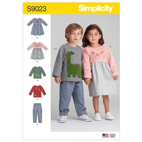Simplicity 9023 A Barn Storlek 1/2-4 Flera plagg
